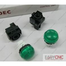YW1P-2EQ0G YW-EQ IDEC control unit switch green new and original