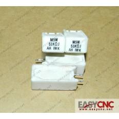 A40L-0001-M5W#R51KohmJ Fanuc resistor M5W 51KohmJ used