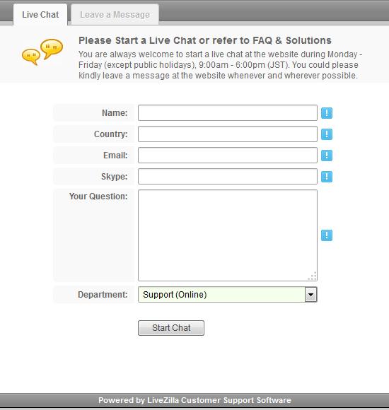 Start a Live Chat